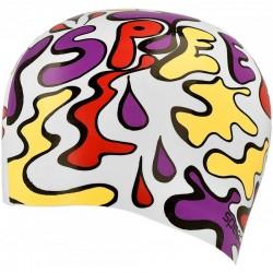 Czepek pływacki Speedo Slogan Print Junior 8-083860000 kolorowy